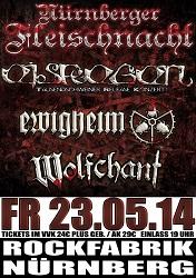 Eisregen Ewigheim Wolfchant Flyer Nürnberg